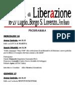 Programma Festa Liberazione 2014 Completo