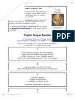 English Tongue Twisters | 1st International Collection of Tongue Twisters