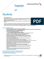 American Airlines Student Offer 2014