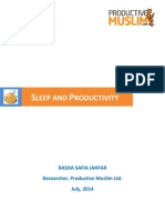 [Research Note] Sleep and Productivity