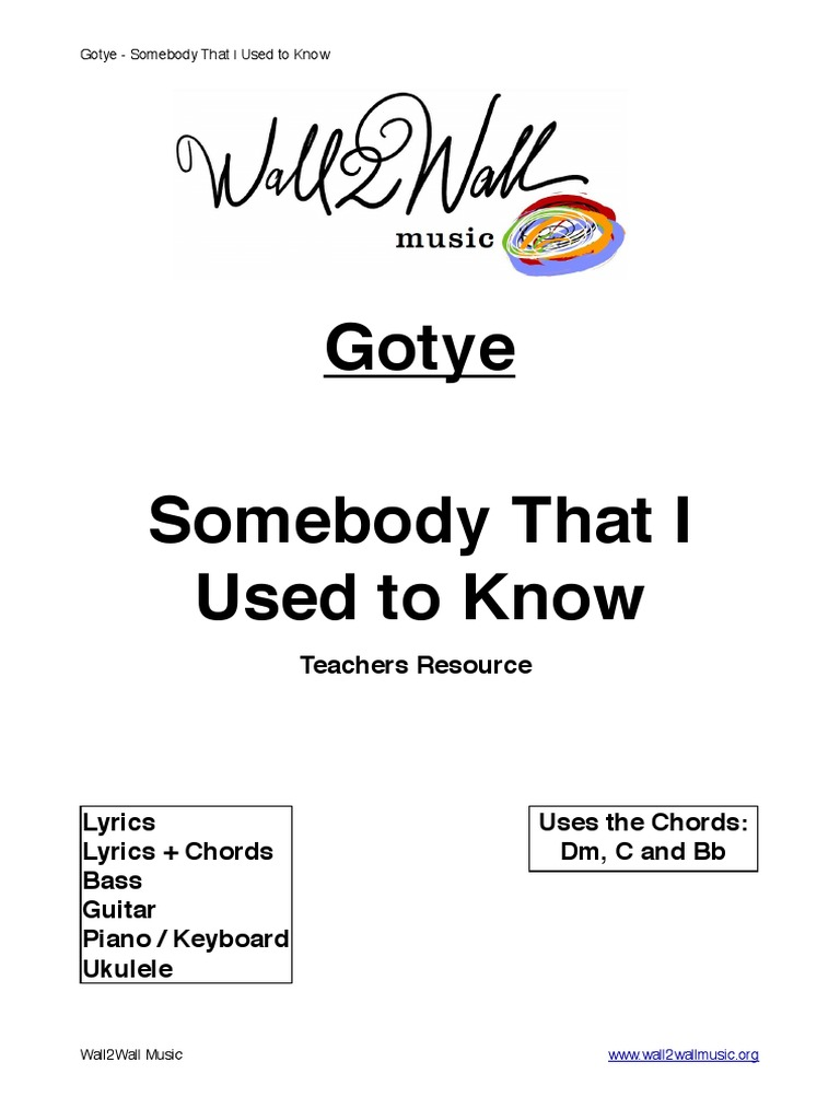 Somebody That I Used To Know Song Structure Drum Kit