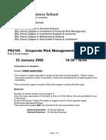Corporate Risk Managemerggent 2009