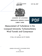 Measurement of Turbulence in the Liverpool university
