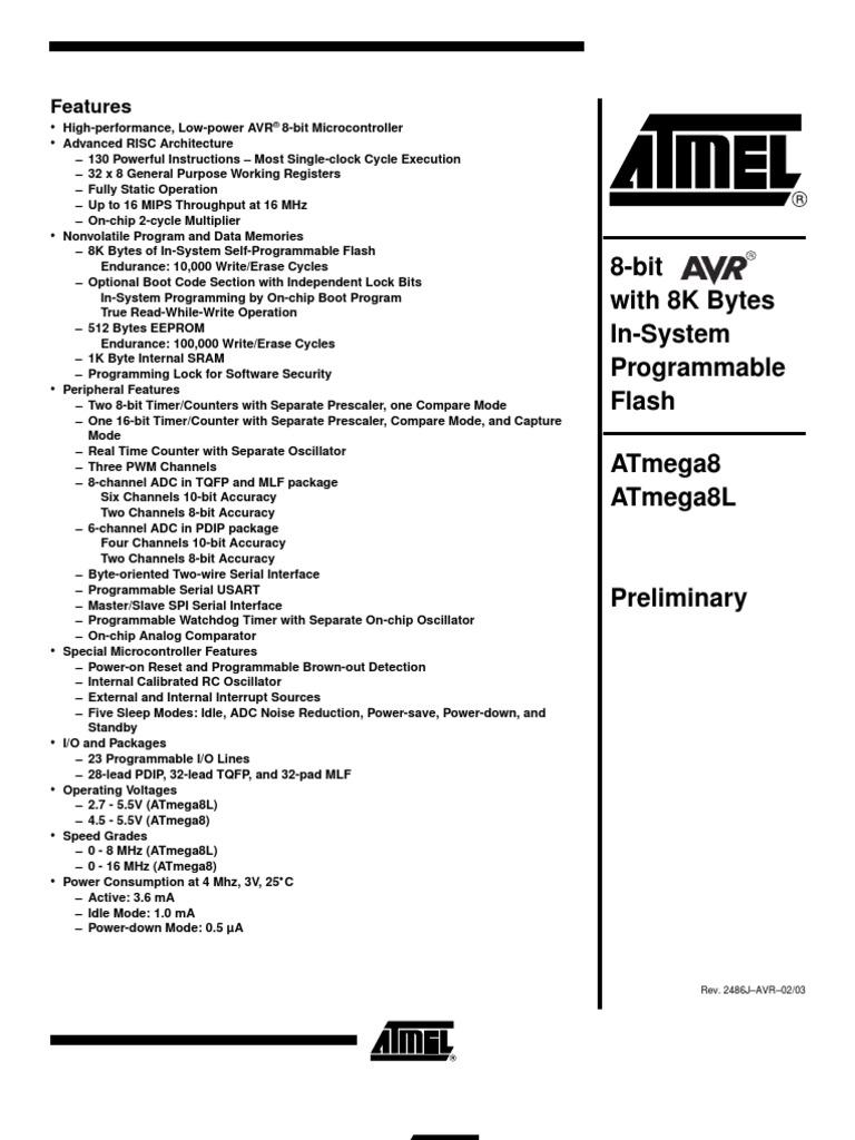 Atmega8 Instruction Set Microcontroller