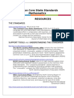 Common Core State Standards for Mathematics Websites