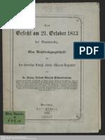 Das Gefecht Am 21. October 1813 Bei Baumeroda, Eine Rechtfertigungsschrift Für Das Ehemalige Königl. Sächs. Uhlanen-Regiment