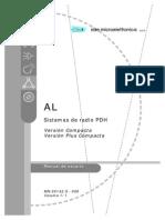 Manual Usuario SIAE AL PDH Ver. Compacta y Compacta Plus - MN.00142.S - 008 Vol. 1