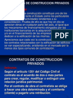 Contratos de Construccion Privados