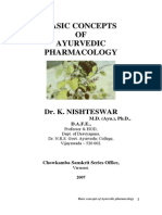 Basic Concepts of Ayurvedic Pharmacology