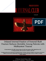 Delayed internal fixation of the femoral shaft