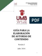 Guia Para La Elaboracion de Autorias de Contenido_Version 3_Julio 2014