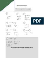 38) Despeje de Fórmulas, Ecuaciones Fraccionarias de Primer Grado