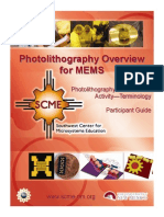 Read Assgn 9 Photolithography Overview Participant Guide