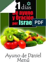 Menu Nutricional Ayuno 21 Dias Por Israel