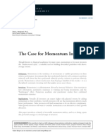 Case for Momentum Investing by AQR (Summer 09)