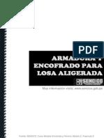 ENCOFRADO Y FIERRERIA ENCOFRADO LOSA+ALIGERADA
