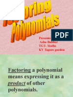 Factoring Poly