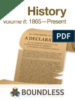 U.S. History, Volume II 1865-Present