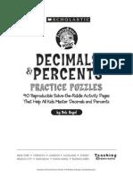 Decimals & Percents Practice Puzzles