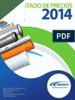 Catalogo de Precios Jun. 2014. Xxxxxx