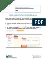 Clase 1 Tutorial Cómo Configurar La Autoría Del Blog