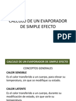 Calculo de Un Evaporador de Simple Efecto