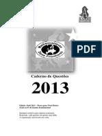 Prova Definitiva 2013 Categoria Básica Caderno de Questões Versão Brasileira