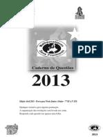 Prova Definitiva 2013 Junior e Senior MSF 2013 Cad. Questões Revisado Versão Brasileira