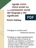 El Lenguaje Como Semiótica Social Halliday