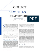 Conflict Competent Leadership
