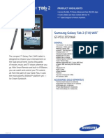 Galaxy Tab II 7.0 Spec Sheets v14 1