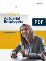 Directory Actuarial Employers 2013 2014