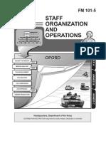 FM-101-5 Staff Organization and Operations
