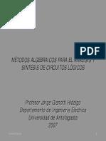 MÉTODOS ALGEBRAICOS