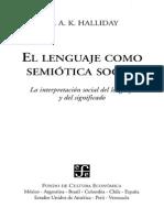 El Lenguaje Como Semiótica Social