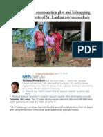A Treasure Map, Assassination Plot and Kidnapping Among Dark Secrets of Sri Lankan Asylum Seekers