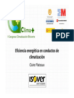 Isover Saint Gobain Eficiencia Energetica en Conductos de Climatizacion Congreso Climaplus 2011