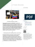 Radar de Los Barrios _ Fuerza, Venezuela!_ DECÁLOGO de LA PROTESTA