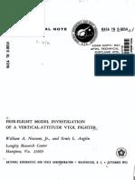 NASA Technical Note - Free flight model investigation of a vertical-altitude VTOL fighter - 1975.pdf
