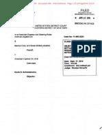 Amex Merchant.465. Scheunemann Objection