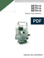 104094563 Manual Sokkia Set 2110 3110 4110 R Total Station Spanish