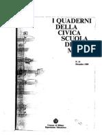 I Quaderni Della Civica Scuola Di Musica