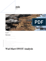 SWOT for WalMart Store