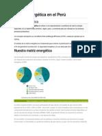 Matriz Energética en El Perú