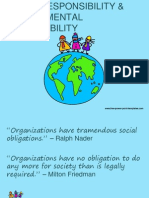 Social Responsibility & Environmental Sustainability