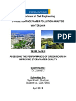 ASSESSING THE PERFORMANCE OF GREEN ROOFS IN IMPROVING STORMWATER QUALITY