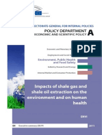 Impacts of Shale Gas on the Envirnment an on Human Health