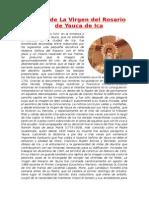 Historia de La Virgen Del Rosario de Yauca de Ica