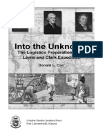 Into the Unknown - Logistics Preparation for Lewis and Clark_Donald Carr_USACSI