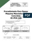 Proc. Operar Maquina Mezcladora de Concretos EC PCD124